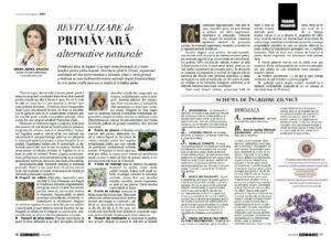Revitalizare de primavara – alternative naturale de Ioana Adina Oancea