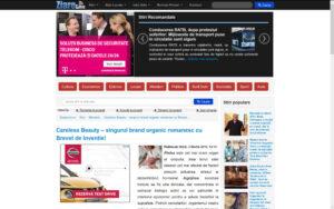 Ziarelive.ro despre Careless Beauty - 3 martie 2015