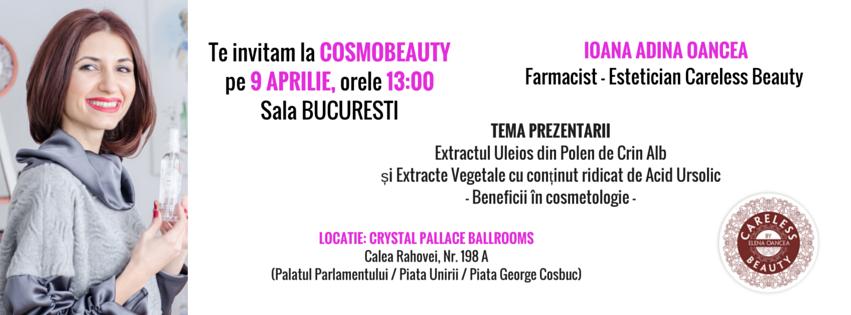 Ioana Adina Oancea, speaker la Cosmobeauty